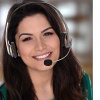 Smiling Persi headset